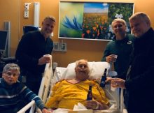 Cancer-sick father gets dying wish, enjoys one last cold beer with his sons