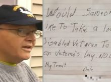Disabled veteran is so lonely he posts advert offering to treat stranger to dinner