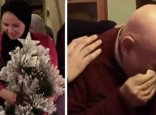 78-yr-old who spent last 20 Christmases alone breaks down in tears as students surprise him with tree