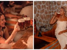 'Beer spa' lets visitors bathe in relaxing beer bath as they drink