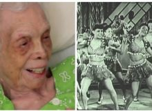 Memories come rushing back when 102-year-old former dancer sees herself on film for the first time