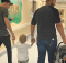 Mom's photo of ex & fiancé leaving hospital with her newborn baby is co-parenting done right