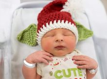 Nurse knits Baby Yoda hats for newborn babies born this Christmas, and parents love them