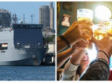 Australian Navy delivers 800 gallons of beer to thirsty town hit by bushfires