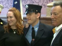 Bruce Springsteen's youngest son, Sam, sworn in as Jersey City firefighter–congratulations!