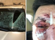 Man issues plea to drivers after flying ice crashes through his windshield