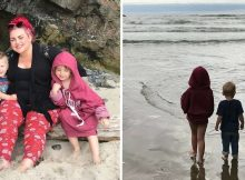 Mother thanks community in painfully honest note after her kids were swept out to sea