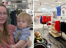 2-year-old boy in wheelchair overwhelmed after seeing advert with disabled boy just like him