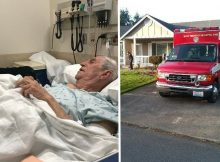 88-year-old breaks hip while mowing lawn, EMTs return to his home and finish the job