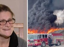 New mom credited with saving truck driver's life after rushing towards raging inferno