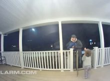 Toddler hugs pizza delivery driver, unknowingly comforts man who recently lost his teenage daughter