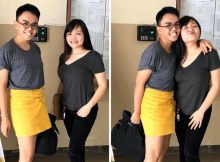 Brother wears sister's skirt so she could take college entrance exam