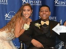 Student whose friends bought senior ball to his hospital room has died